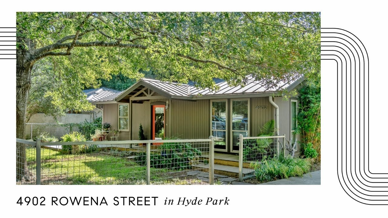 For sale in Hyde Park:  4902 Rowena Street; Austin Tx 78751