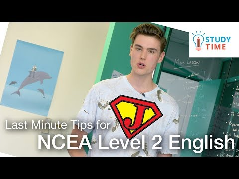 Jordan's Last Minute Tips for NCEA Level 2 English | StudyTime NZ