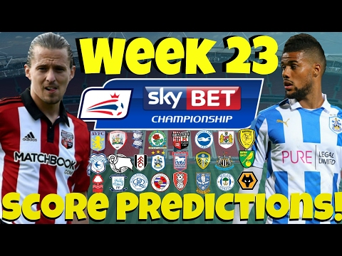 My Championship Week 23 Score Predictions! What Will Your Club Do This Weekend?!