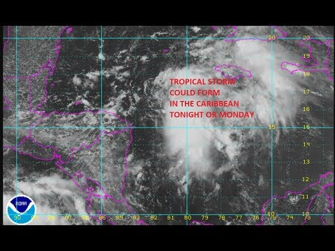 TROPICAL DEPRESSION DEVELOPING IN THE WESTERN CARIBBEAN, TROPICAL WAVE IN THE ATLANTIC NO CHANGE