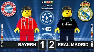 Bayern vs Real Madrid 1-2 • Semi-finals Champions League 2018 (25/04) Goals Highlights Lego Football