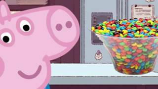 Peppa Pig eat a lot of sweets and candy M & M in prison English Character Episodes Funny Story