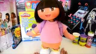 Dora la Exploradora muñeca canta y baila review dora the explorer doll talk sing, trendy juguetes 25