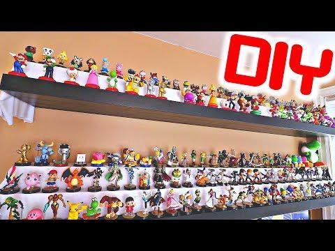 HOW TO MAKE CUSTOM DIY Amiibo Shelves! (BEST WAY TO DISPLAY!)