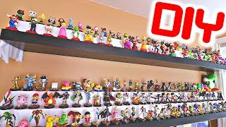 HOW TO MAKE CUSTOM DIY Amiibo Shelves! (BEST WAY TO DISPLAY!)