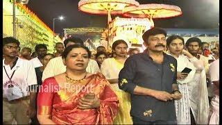 Tollywood Actors Rajasekhar Jiveetha, Daughters Sivani, Sivatmika in Tirumala Temple