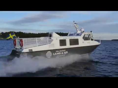 Shipsforsale Sweden Taxi boat Nilla aluminium 12 pax vessel water jet and volvo Penta. Sold.