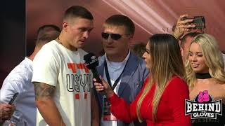 USYK VS GASSIEV POST WEIGH-IN INTERVIEWS AT WORLD BOXING SUPER SERIES FINALE