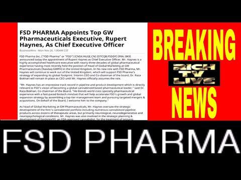 FSD PHARMA Appoints Top GW Pharmaceuticals Executive, Rupert Haynes, As Chief Executive Officer
