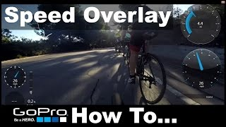 Add SPEEDOMETER DATA on GoPro How To Overlay Speed, RPM, GPS in Video FOR FREE