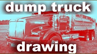Learn how to draw a dump truck rig!!!