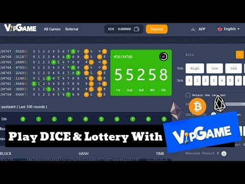 Play DICE & Lottery With VIPGAME Bitcoin Casino - Win BTC, ETH, EOS