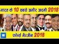 भारत के 10 सबसे अमीर आदमी 2018 | India's 10 richest man 2018