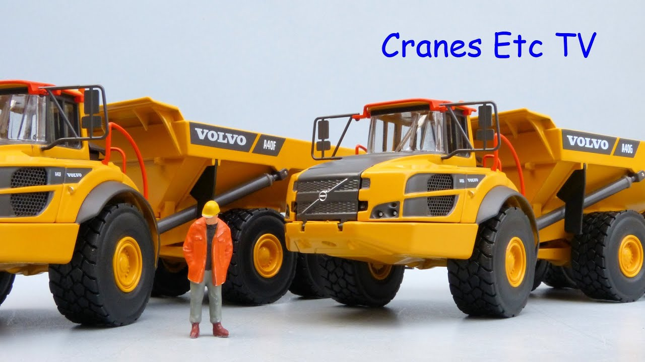 Motorart Volvo A40F and A40G Articulated Haulers by Cranes Etc TV - YouTube