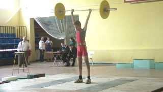 Потёмкин Алексей, 14 лет, вк 42 Толчок 50 кг