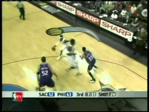 Allen Iverson 41 pts vs Mike Bibby 44 pts,season 2006, 76ers vs kings