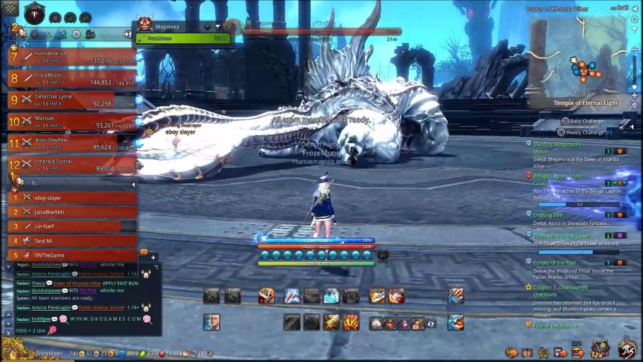 Blade \u0026 Soul : Tiêu diệt boss giữ cửa Raven King (Vua Quạ)