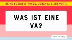 Wofür steht die Abkürzung VA? - By Johanna Fritz