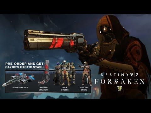 97ad5ab1a06 DESTINY 2 Forsaken – Cayde s Exotic Stash Pre-Order Details PS4 Xbox PC HD