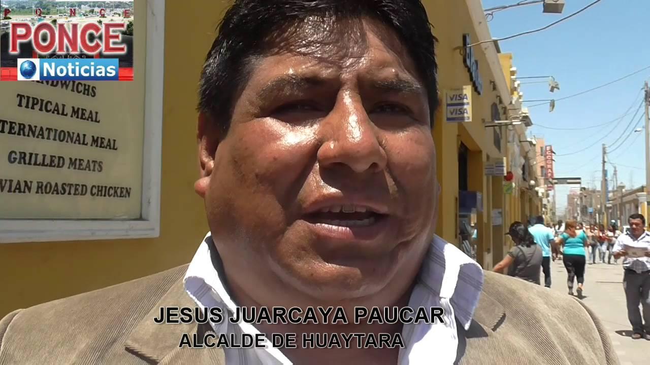 Resultado de imagen para jesus huarcaya alcalde de huaytara