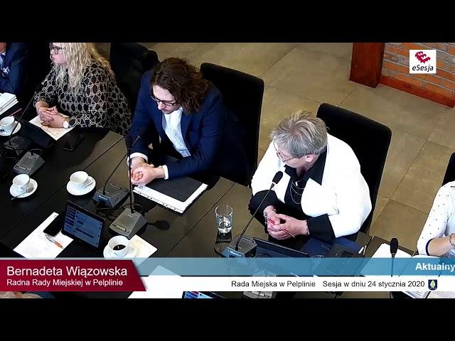 Skrót XVII Sesji Rady Miejskiej w Pelplinie
