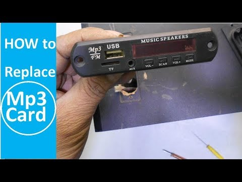 How To Change USB Bluetooth FM Audio decorder Module Kit (Mp3 Card) in Home Theater