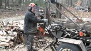 Doug's Homemade Firewood Processor 18hp