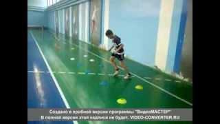 Теннис, тренировка (Tennis kids practice, 9-10 years)