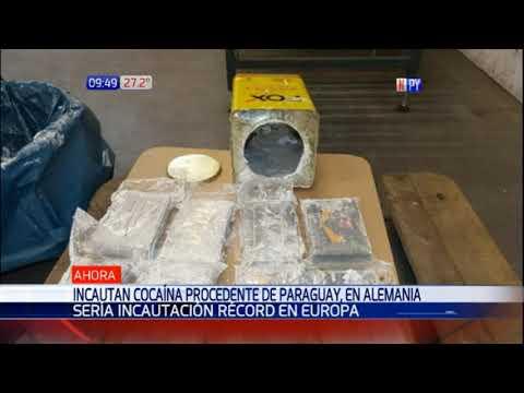 Incautación récord de cocaína proveniente de Paraguay en Hamburgo, Alemania