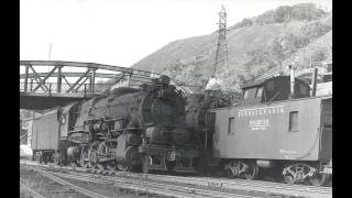 PRR Steam Audio Recording: I1sa starts a heavy Coal Drag out of Denholm, PA (1949)