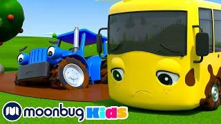 Muddy Wheels on the Bus +More Super Buster Kids Cartoons & Songs | MOONBUG KIDS  Superheroes