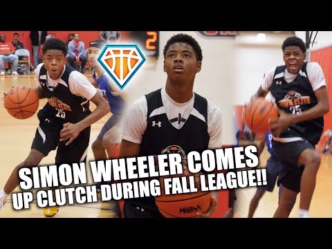 5'9 Simon Wheeler COMES UP CLUTCH DOWN THE STRETCH!! | Sets Up GAME WINNER at Fall League