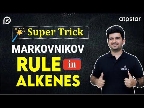 Markovnikov rule in Alkenes - IIT JEE chemistry
