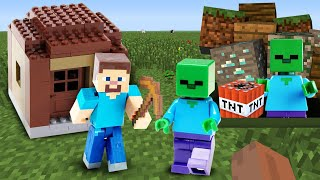 Стив Майнкрафт в видео обзоре - Minecraft ловушки и сокровища Пиратов! – Игры для мальчиков.