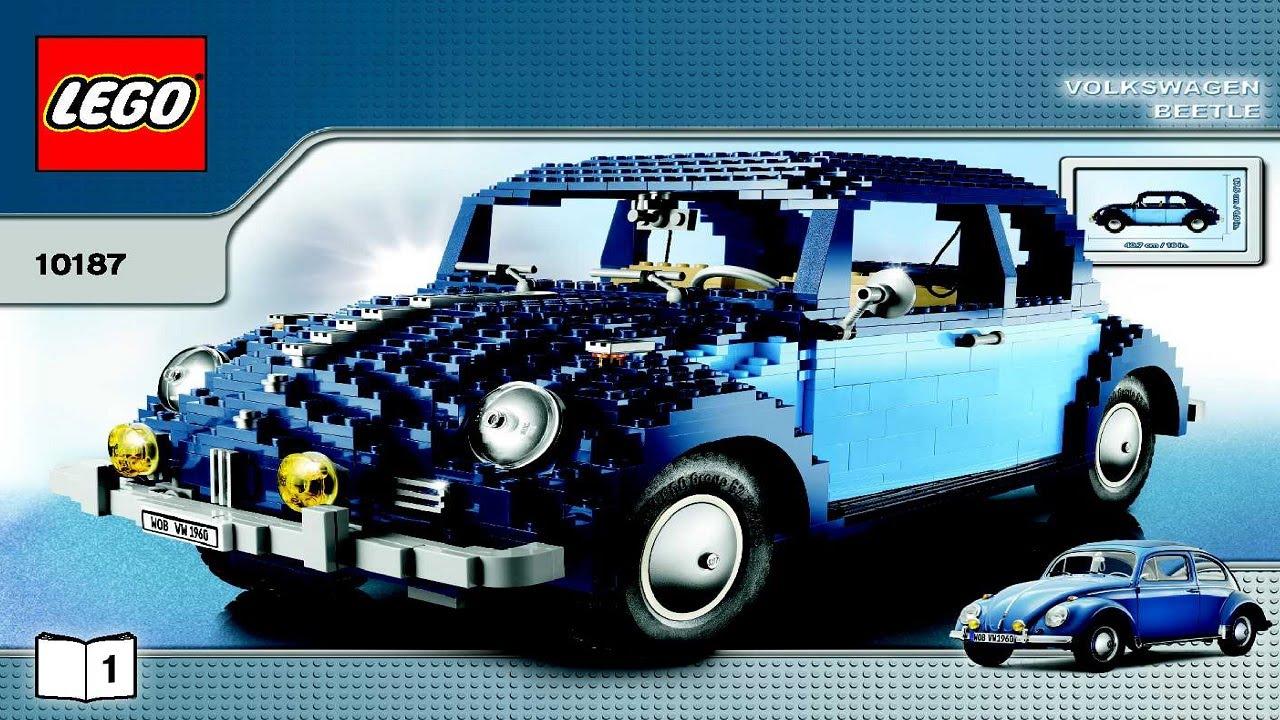 10187 Lego Classic Volkswagen Beetle Creator Expert Instruction