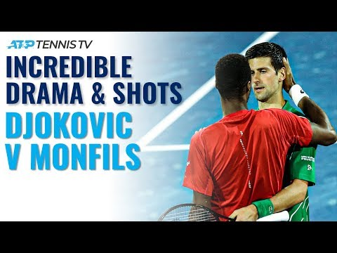 Insane Athleticism & Incredible Drama: Djokovic Vs Monfils Epic | Dubai 2020 Highlights