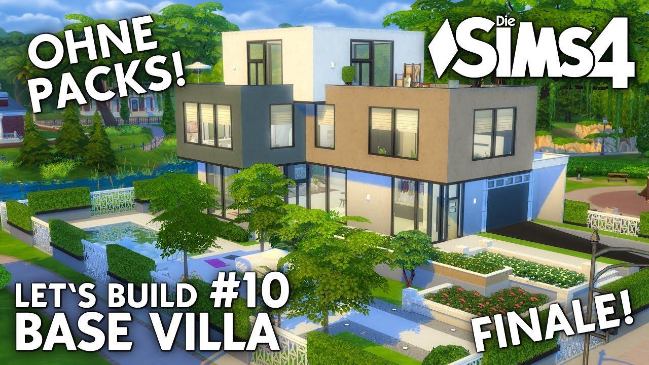 die sims 4 haus bauen ohne packs base villa 10 finale details deutsch youtube. Black Bedroom Furniture Sets. Home Design Ideas