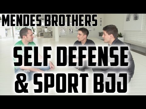 Rafa and Gui Mendes on Self Defense and sport Jiu Jitsu