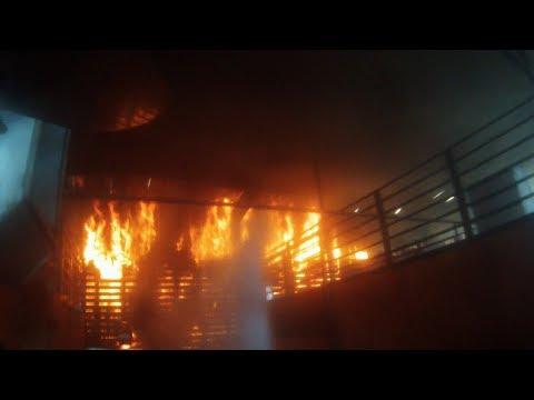 **LARGE BARN FIRE** GoPro Hero3 Helmet Cam