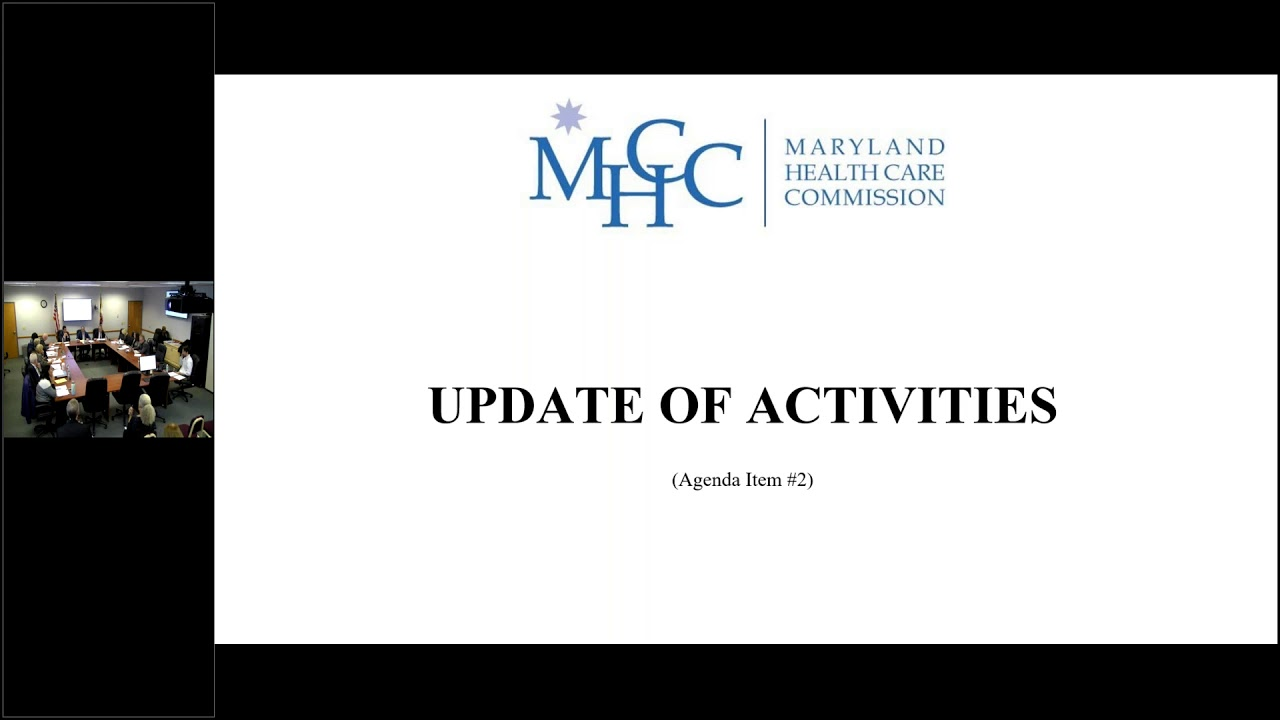 Maryland Health Care Commission November 2019 Commission