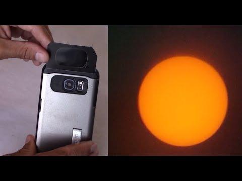 Use Smart phone to film total Solar Eclipse in Casper, Wy 8-21-2017