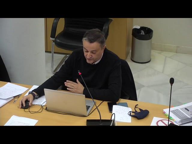 Intervención Concejal Pedro Barrero en Comisión Vicealcaldía. Presupuestos.