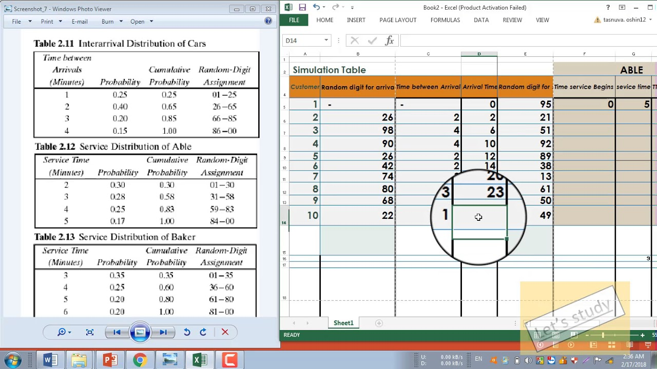 Simulation Queueing (Able & Baker )