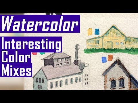 Easy Watercolor Tutorial - Interesting Colors that Mix Well (Watercolor Corner #9)