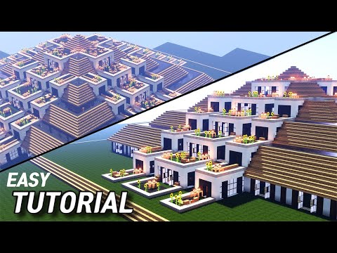 Easy Minecraft | House design| How to Build Terrace House in minceraft #49