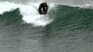 01-02-2011 Bodyboarding and Surfing Manhattan Beach Pier