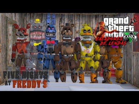 A LENDA DOS ANIMATRONICS/ FIVE NIGHTS AT FREDDY'S - Caçadores de lendas (GTA 5) thumbnail