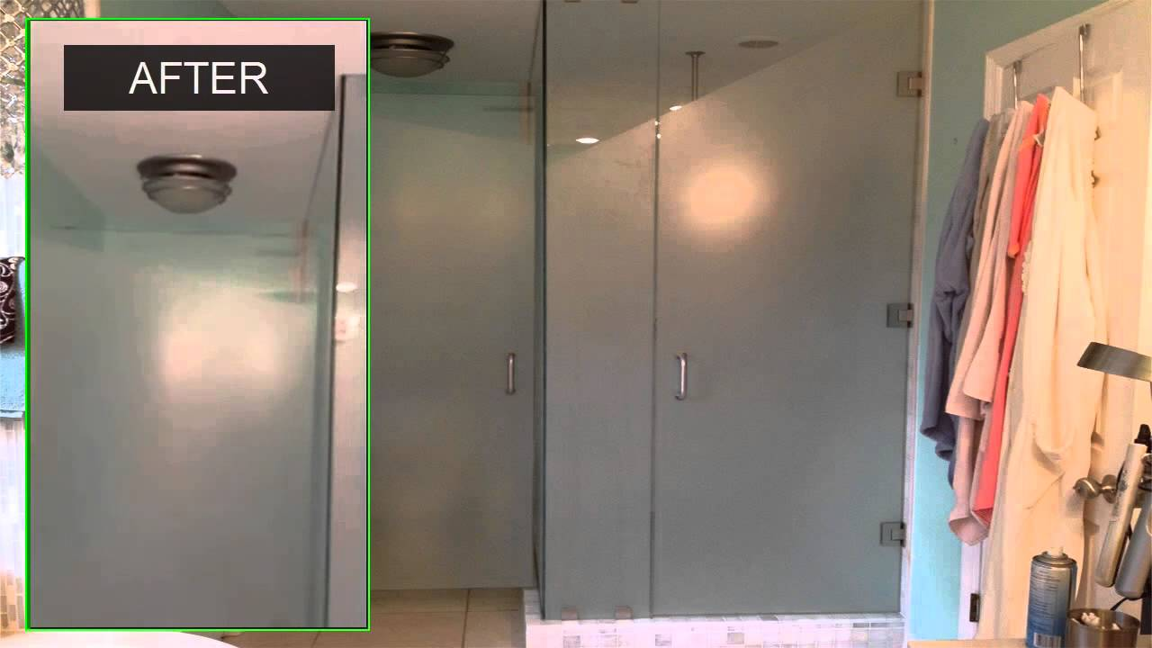 Glass Bathroom And Shower Doors White Matte Film Eclipsetinting