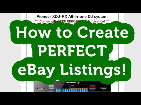 How To Create PROFESSIONAL EBay Listings WITHOUT Turbo Lister!