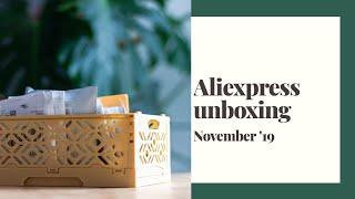 Aliexpress unboxing November 2019